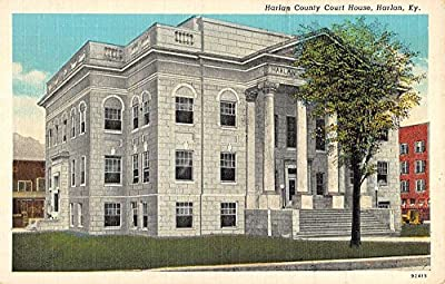 court house harlan kentucky antique postcard L3774