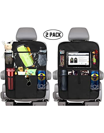 Car Seat Back Cover Mat Baby Feeding Bottle Snack Tablet Organizer Cartoon Storage Bags Multi-functional Hanging Holders Year-End Bargain Sale Mother & Kids
