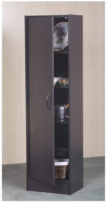 Mylex Pantry Single Door Storage Cabinet Cupboard Utility Closet Kitchen  Furniture (Black)