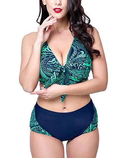 9195ac26783d4 Bikini Set Damen Push Up Zweiteilig Sportliches Bademode Strand Bikini Für  Große Oberweite: Amazon.de: Bekleidung