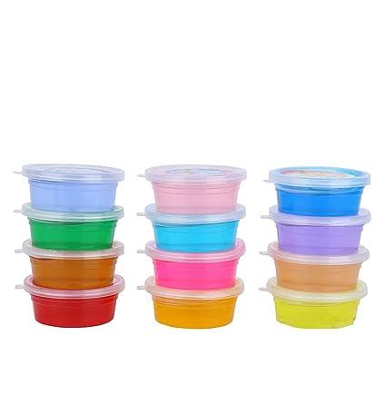 innovative design c29a0 c9919 Amazon.com: superstar shop Clear Crystal Slime - 12 Colors ...