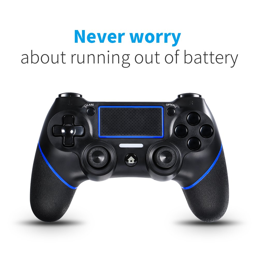 Lilyhood PS4 wired controller for Playstation 4, professional usb PS4 wired  gamepad for PlayStation 4/PS4 Slim/PS4 Pro cable length 6 5foot (black)