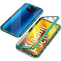 Xiaomi Poco X3 NFC Hoesje Magnetische adsorptie Metal Bumper Frame 360 Graden Bescherming Flip Cover met Dubbele kanten…