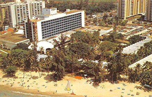 Birdseye View Postcard (Isla Verde Puerto Rico Hotel San Juan Birdseye View Vintage Postcard K33477)