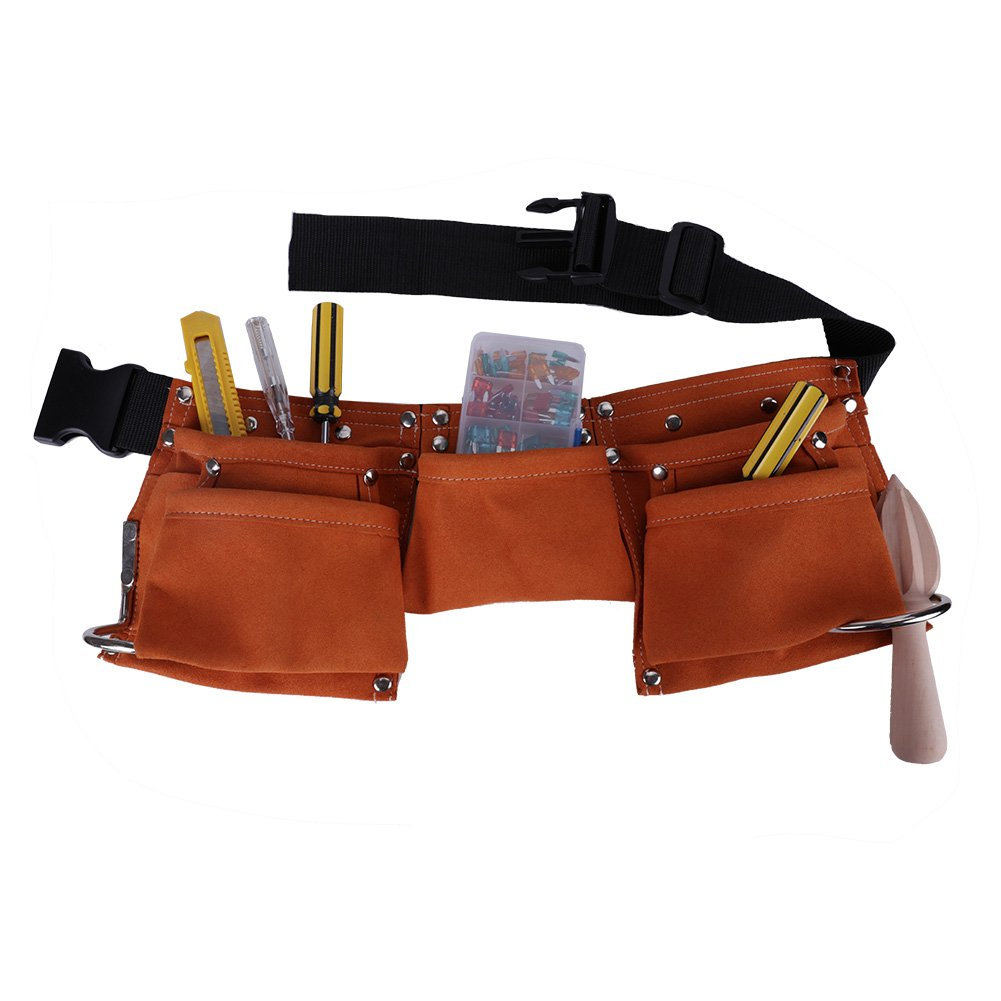 Shopline Adjustable Kids Tool Belt, Super Fiber Child Pouch Tool for Heavy Projects Costume Dress Up (Yellow) by Shopline (Image #5)