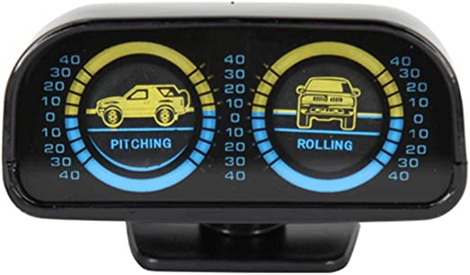 Adjustable Car Inclinometer Compass Balance Meter Gauges Slope Indicator