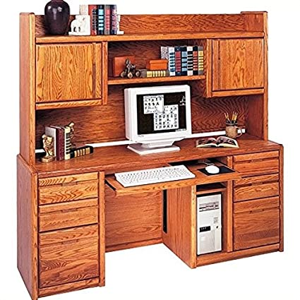 Merveilleux Kathy Ireland Home By Martin Furniture Wood Computer Desk With Hutch In Oak