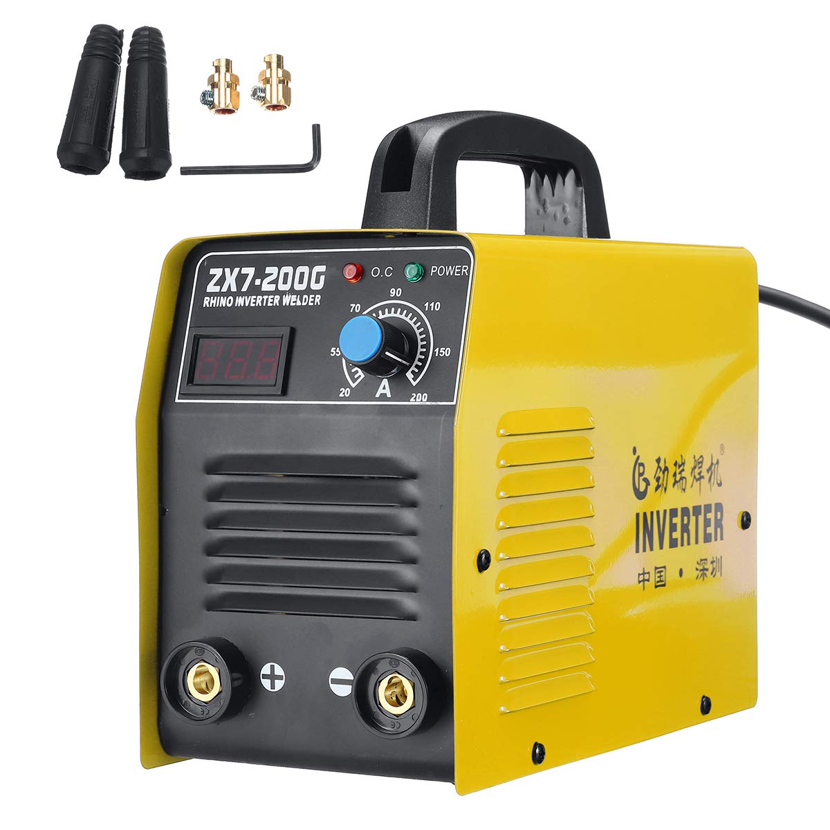 ZX7-200 220V LCD Electric IGBT Inverter MMA ARC Welding Soldering Machine
