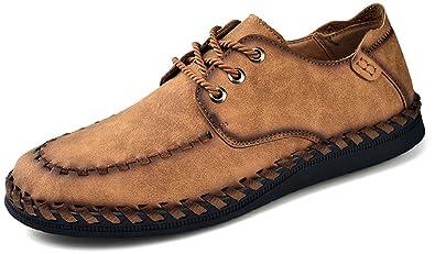 Phefee Hombre Cómodos Casual Loafer Mocasines Zapatos Negocio Moda Planos Zapatos de Conducción: Amazon.es: Zapatos y complementos