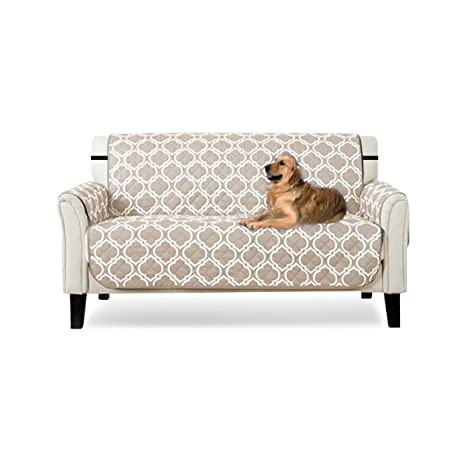 PETCUTE Funda Sofa 2 plazas Cubre Sofa Fundas de sofá Acolchado Resistente al Agua Protector de Sofá Muebles para Mascotas