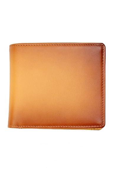 1edfbb51e5e0 Amazon | 本革グラデーション二つ折り財布 GGS-1002 イエロー | 財布