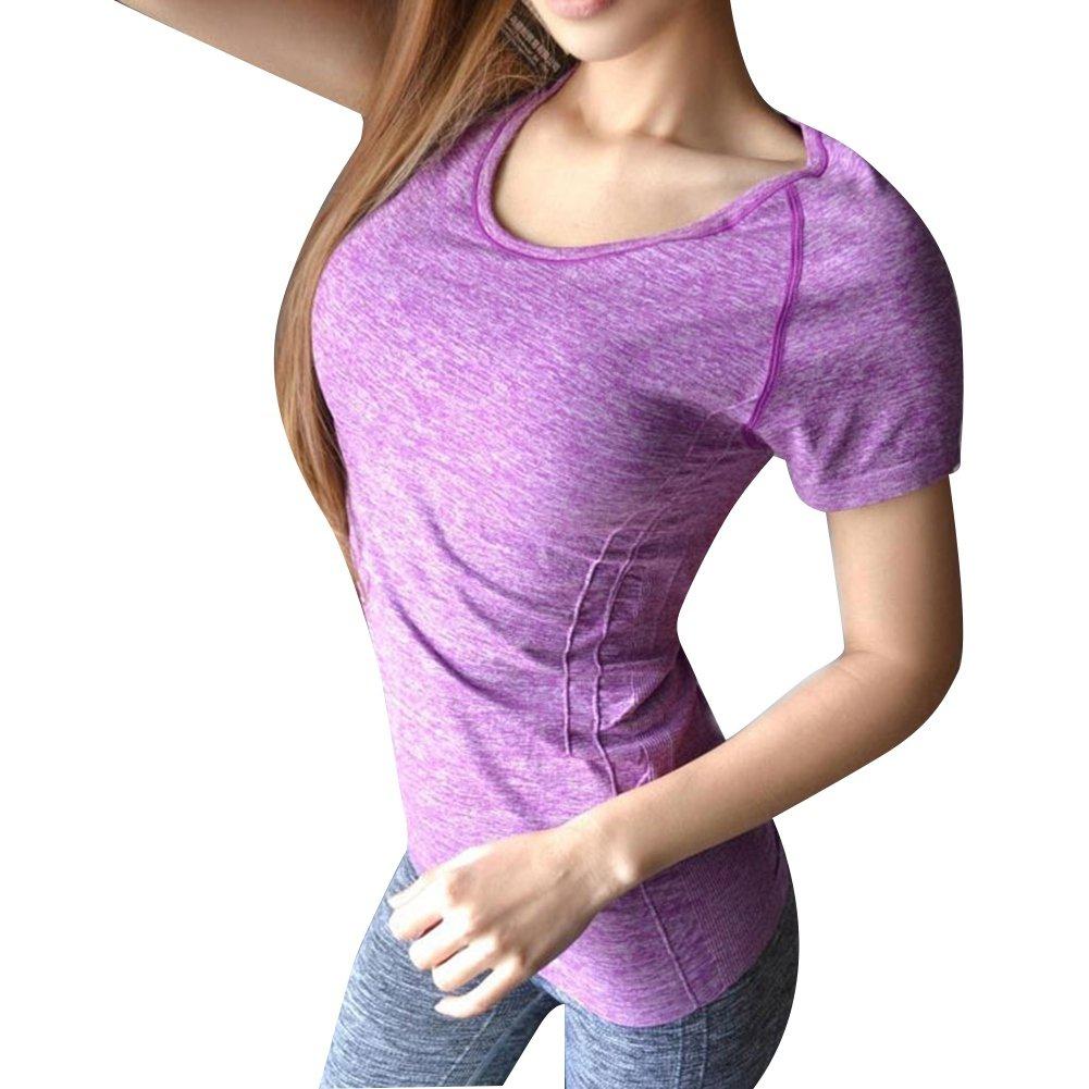 Balai Women Sports Shirt Gym Fitness Yoga Tops Quick Dry Short Sleeve T-Shirt