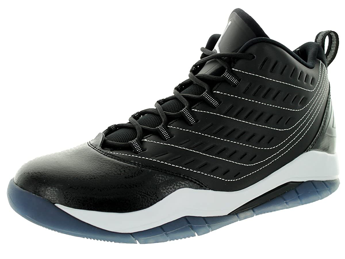 Nike Jordan Mens Jordan Velocity Black//White//White Basketball Shoe 9 Men US