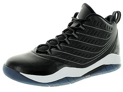 finest selection d21d4 86c29 Nike Jordan Mens Jordan Velocity Black White White Basketball Shoe 9 Men US
