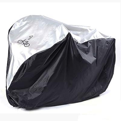 Housse de protection pour vélo en 210D oxford grand taille 190*72*110cm noir et argenté - Housse vélo imperméable - Couverture étanche pour vélo avec Sac de rangement - Anti-UV - Anti