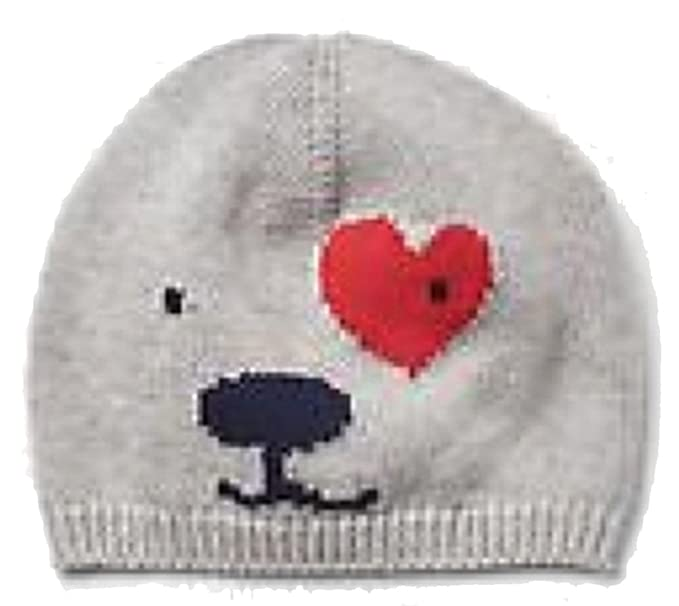 45933c46bed Image Unavailable. Image not available for. Color  Baby Gap Boys Gray Puppy  Love Beanie Hat 0-3 Months
