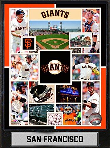 Encore MLB San Francisco Giants Sports Memorabilia Team Plague, Standard, Black
