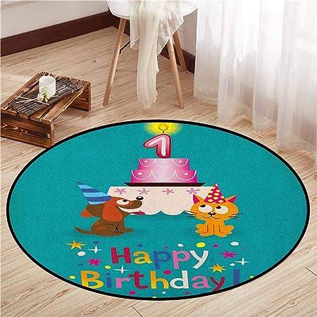 Alfombras Redondas, Primer cumpleaños, Princesa niña y ...