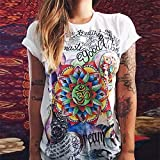 'Dolland Women's Short Sleeve Graphic Printed T Shirt Casual Summer Loose Blouse Tops,Color T11XL' from the web at 'https://images-na.ssl-images-amazon.com/images/I/610pF2l2IJL._AC_UL160_SR160,160_.jpg'