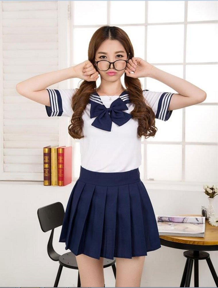 Has come Sexy asian school uniform for that