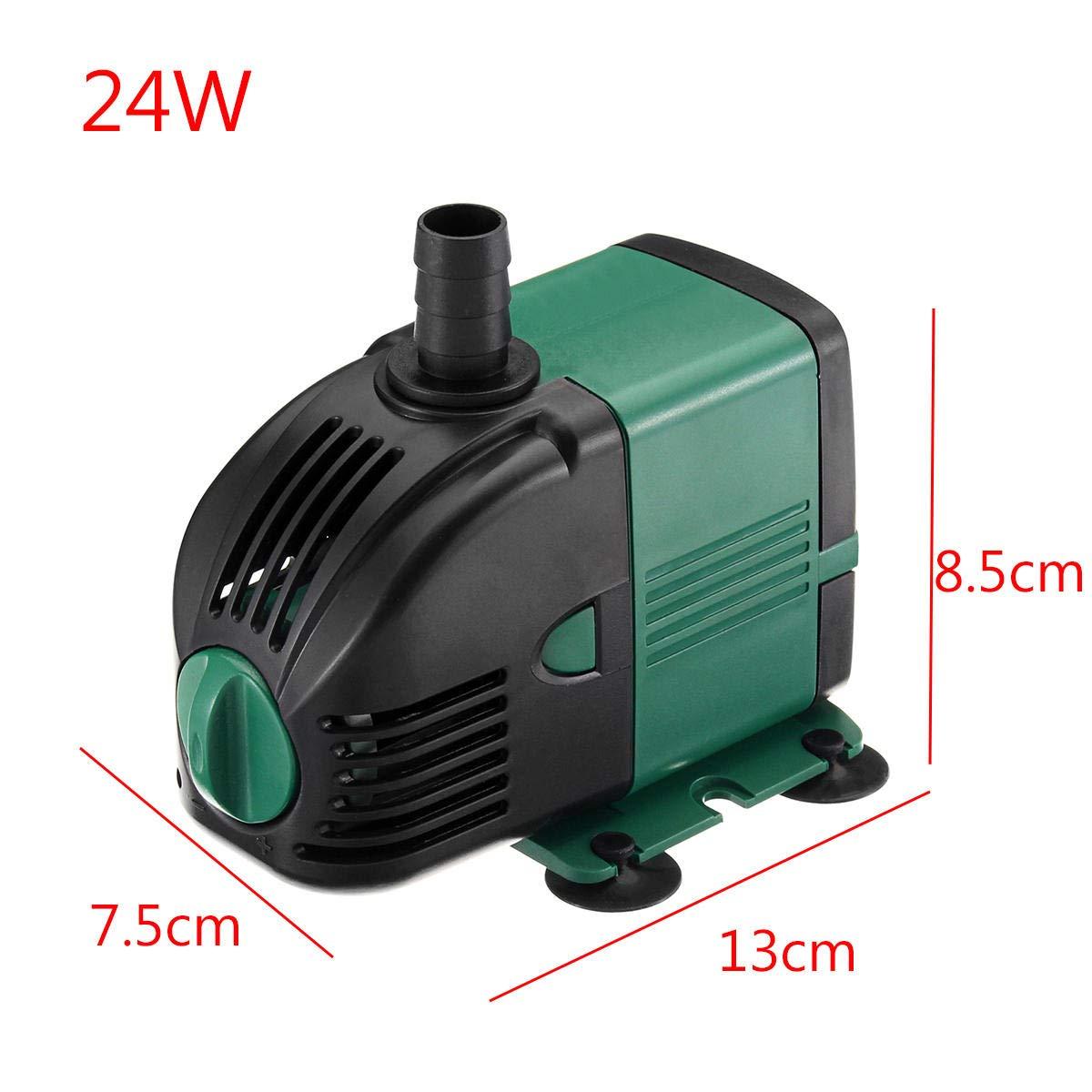 6-60W Multi-Function Submersible Aquarium Tank Water Pump Quiet 24W