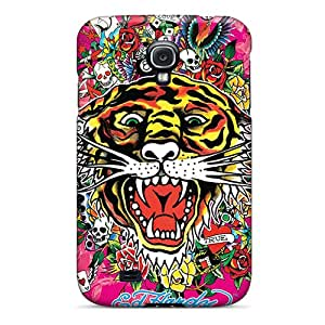 Anti-Scratch Hard Phone Cover For Samsung Galaxy S4 With Unique Design Realistic Ed Hardy Tiger Pictures RichardBingley
