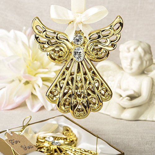 72 Magnificent Gold Angel Ornament Religious Favors by Fashioncraft