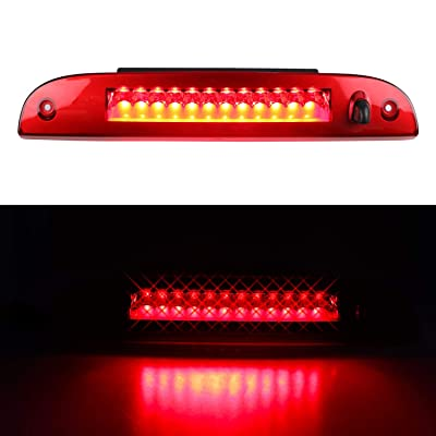 LED 3rd Brake Light for 2002-2010 Ford Explorer, Third Centre High Mount Cargo Lamp Assembly (Red Lens): Automotive