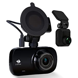Z-Edge Z3D Dual Lens Dash Cam, Ultra HD 1440P Front & 1080P Rear 150 Degree Wide Angle Front and Rear Dash Cam, Dashboard Camera with GPS, WDR, Low Light Vision, Parking Mode, G-Sensor, Auto Record