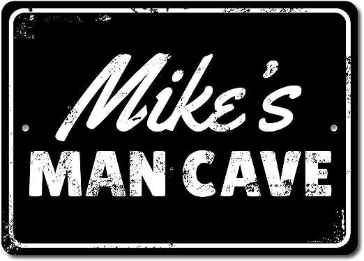 HNNT Cartel de Metal Vintage con diseño de Hombre Cueva: Amazon.es ...