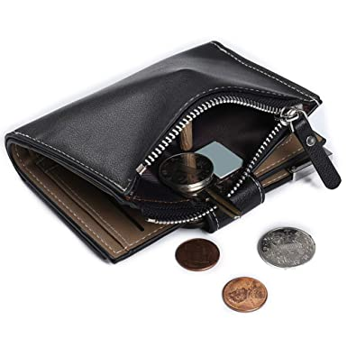 Amazon.com: Classic Leather Squeeze Monedero cambiador ...
