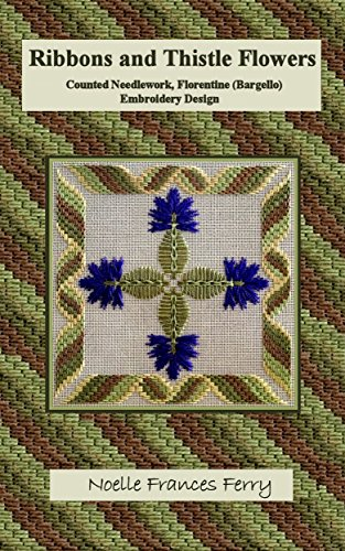 Amazon Ribbons And Thistle Flowers Counted Needlework