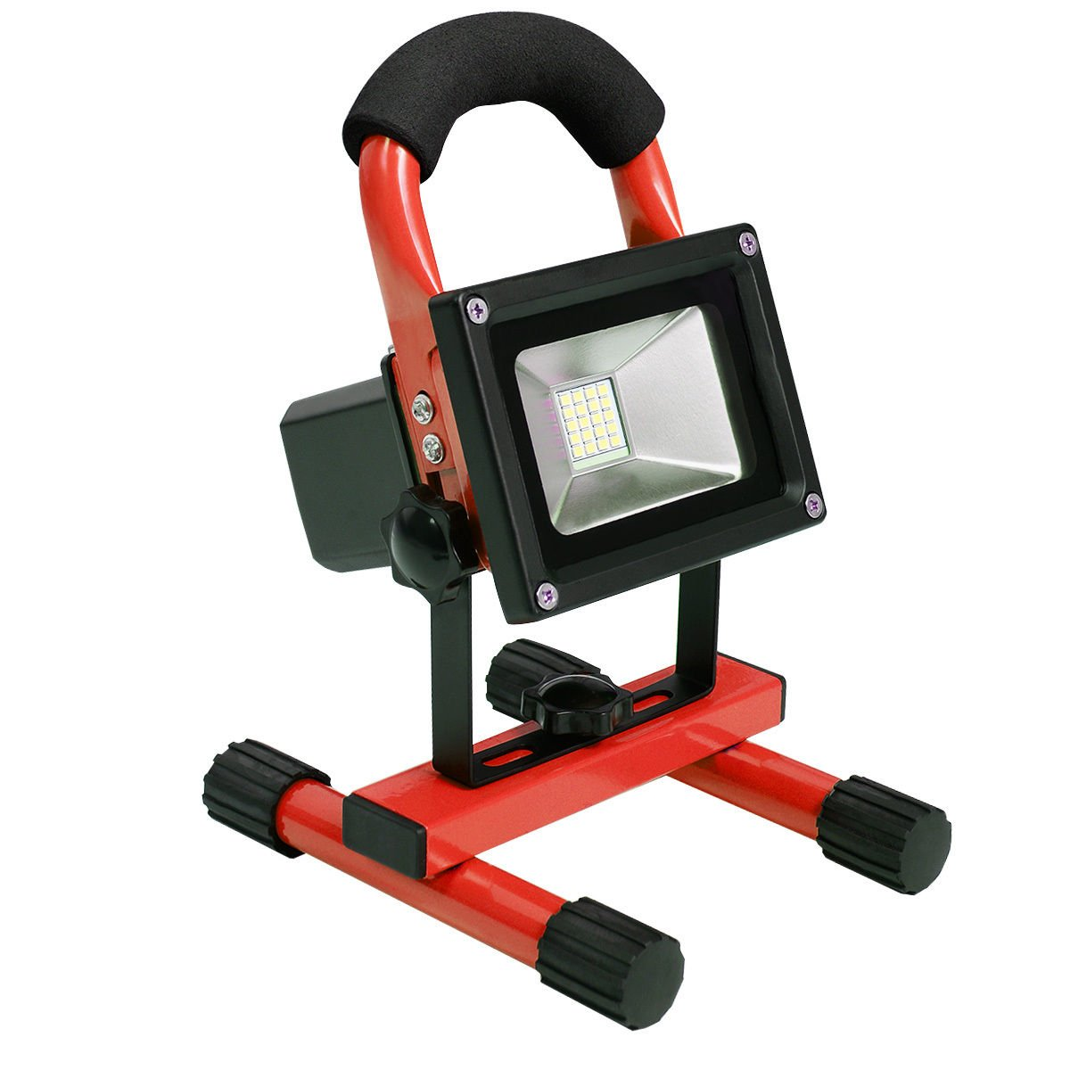 Red Portable 10W Cordless Work Light Rechargeable LED Flood Spot Camping Lamp by Marketworldcup (Image #3)