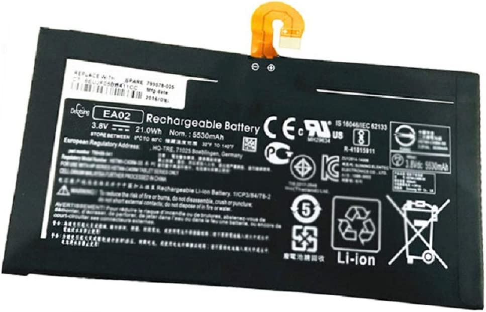 Dentsing EA02 (3.8V 21Wh/5530mAh 2-Cells) Tablet Battery Compatible with HP Pro Tablet 608 G1 Series Laptop EAO2 HSTNN-C408M-SS 799499-541 799578-005 799499-2C1 HQ-TRE 71004