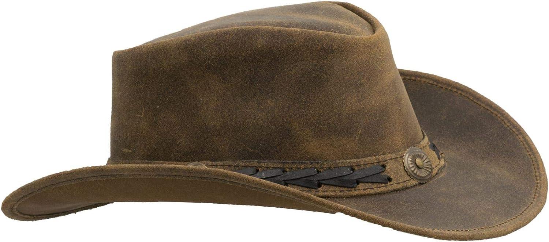 Walker and Hawkes Antique - Sombrero de Vaquero de Estilo clásico - Cuero Vacuno