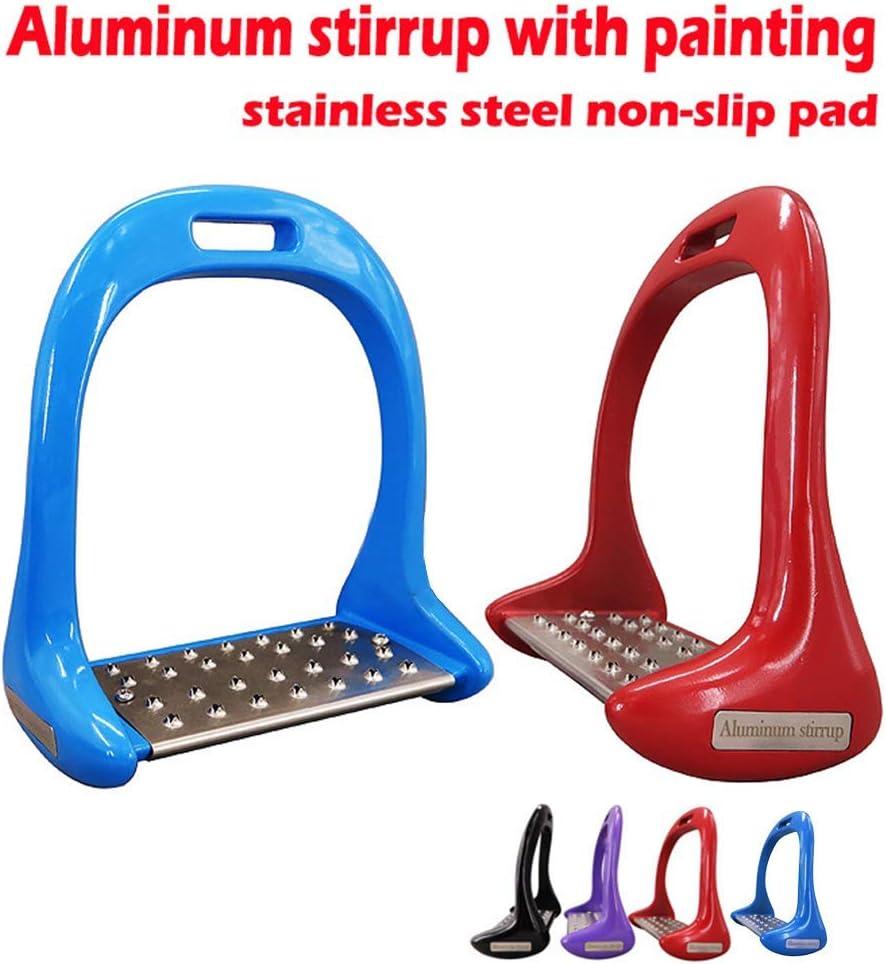 Anti Slip Aluminium S/écurit/é/Étriers /Équitation /Équitation /Étriers Noir 1 Paire Cheval /Étriers