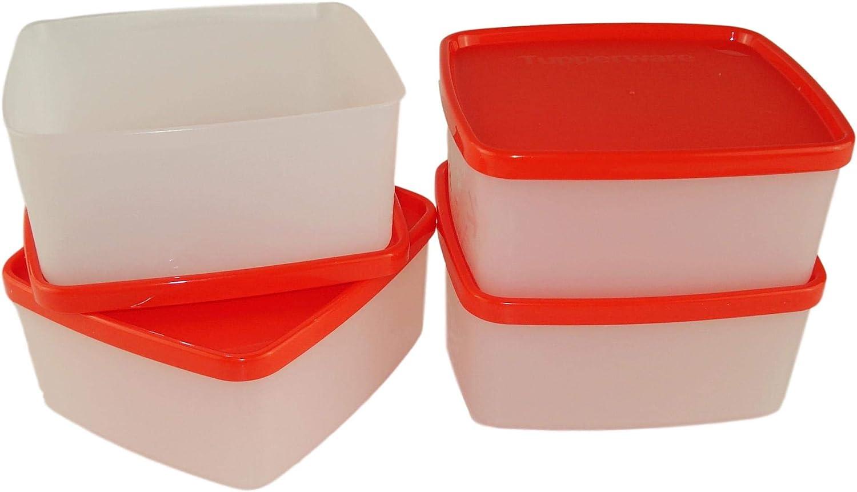 Tupperware J06 Juego de 4 Cajas de congelador 400 ml: Amazon.es: Hogar