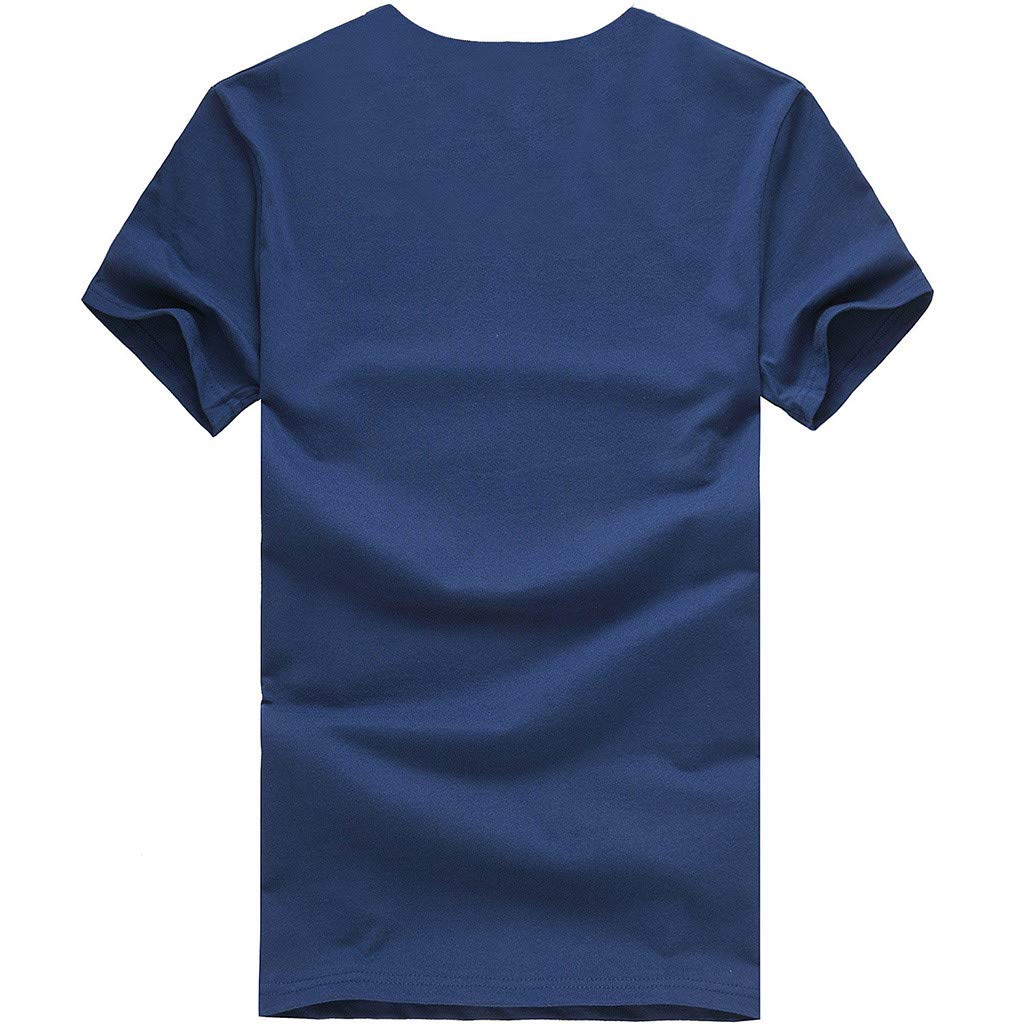 Keliay Cute Womens Tops Summer,Women Casual Letter Printed Cotton Short Sleeve Inspiring Word T-Shirt Tops Tees Blue by Keliay (Image #3)