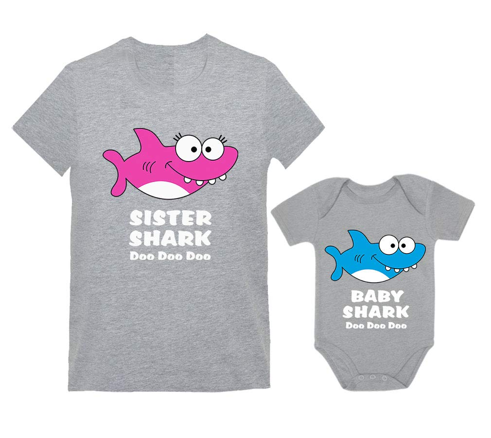 Baby Shark Doo Doo & Sister Shark Big Sister and Little Sister Set