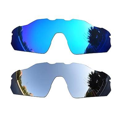 SOODASE Para Oakley Radar EV Pitch Gafas de sol Azul/Plata 2 Pares ...