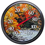 Springfield Fall River Low Profile Patio Thermometer (13.25-inch)