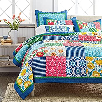 Amazon Com Tache Colorful Patchwork Quilt Bedspread