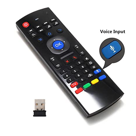Air Remote Mouse 2 4GHz Mini Wireless Keyboard Mouse with Voice Input  Android TV Remote Control Infrared Leaning for Android TV Box,Mini PC,Mac OS