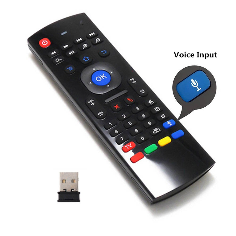 Air Remote Mouse 2.4GHz Mini Wireless Keyboard Mouse with Voice Input Android TV Remote Control Infrared Leaning for Android TV Box ,Mini PC,Mac OS