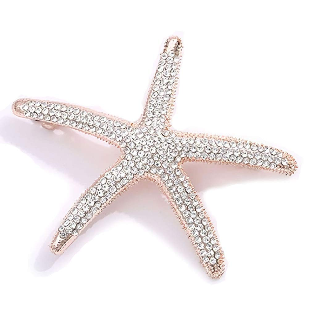 Headwear For Women Starfish Hairpin Rhinestone Pearl Girls Barrettes Hair Clips
