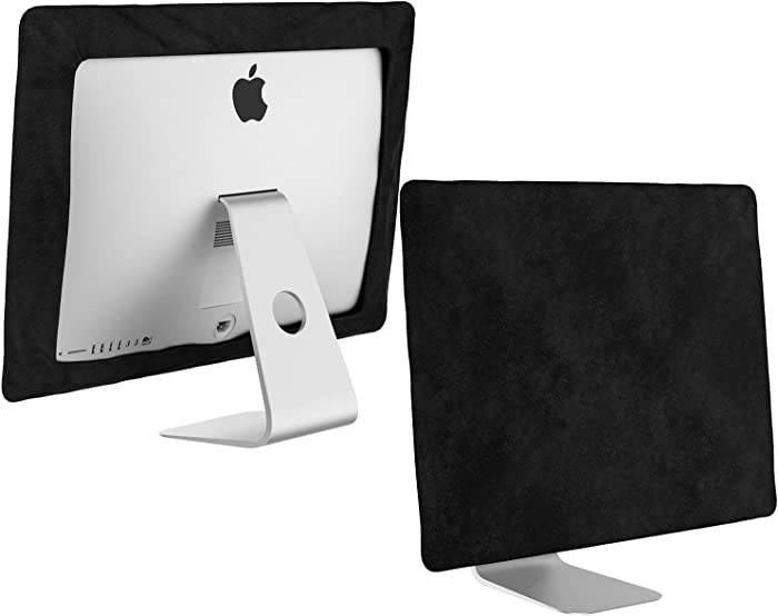 Kuzy - iMac 27 inch Monitor Cover, Apple Desktop Computer Screen Protector Sleeve Models A1862, A1419, A1312 Newest Version Retina 5K Mac Pro Protection from Dust and Fingerprints - Black