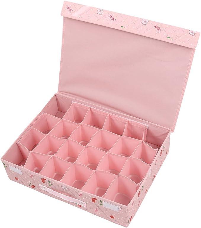 Damas DealMux plegable de frutas 24 compartimentos sujetador ropa interior Meias Caixa de armazenamento: Amazon.es: Hogar