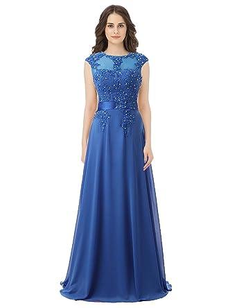 23cb8aa9abbc2 Sarahbridal Women s Floral Lace Vintage Wedding Maxi Bridesmaid Dress Long  Blue US2