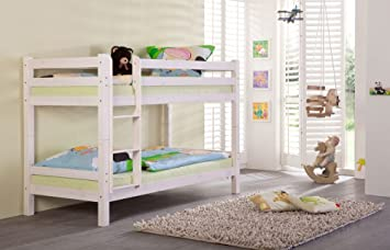 Etagenbett Weiß Massiv : Lifestyle4living etagenbett in kiefer massiv weiß teilbar 2