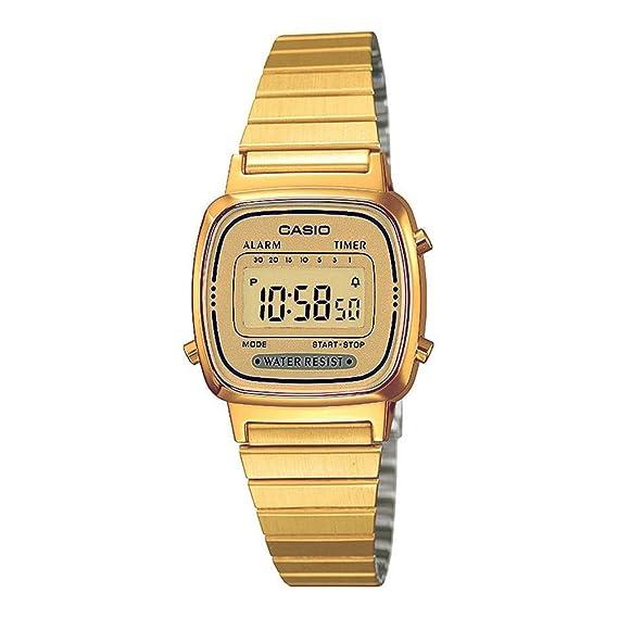 Casio LA670WGA-9DF - Reloj (Reloj de Pulsera, Resina, Oro, Amarillo